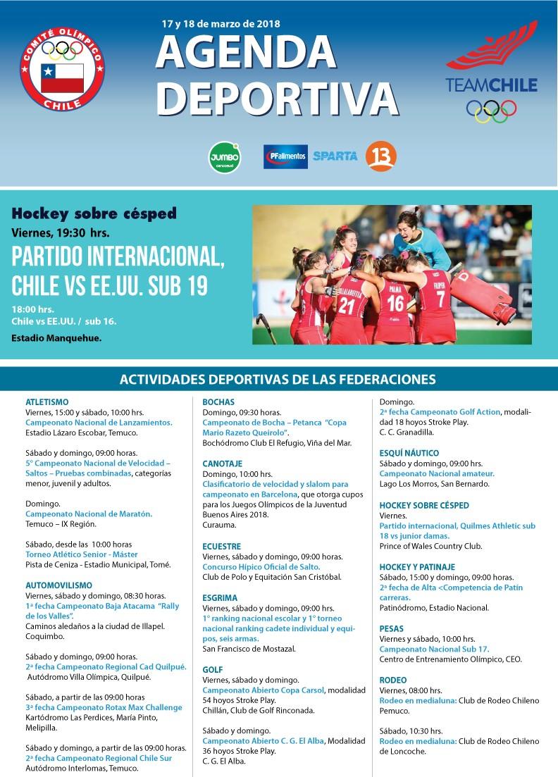 Agenda 17 y 18 marzo